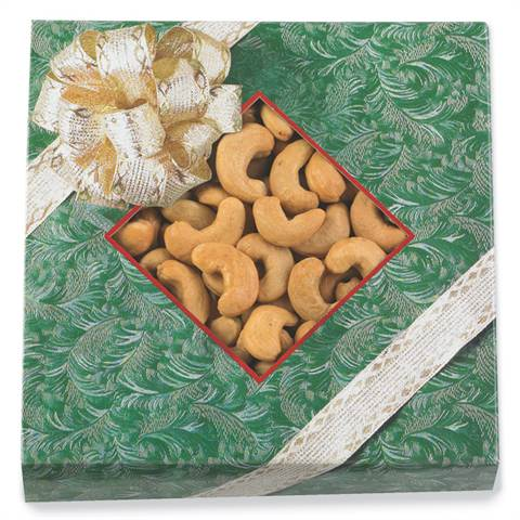 10 oz. Super Giant Cashews in Bow-Trimmed Gift Box