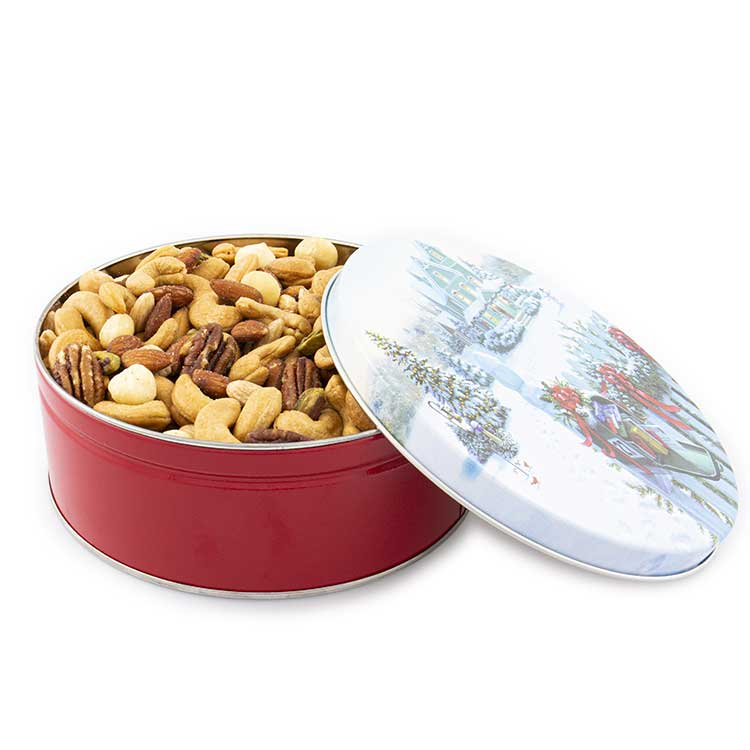 3 lb. Premium Mixed Nuts Christmas Mail Tin