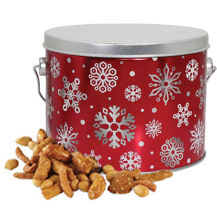 Red Snowflake Party Mix