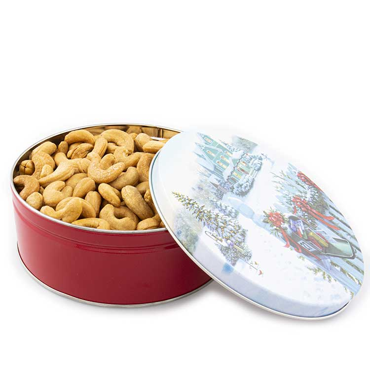 1 lb. Colossal Cashews Christmas Mail Tin